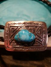 Sterling Silver & Turquoise Ultra High Quality Bolo Tie, maker Peter Nelson.