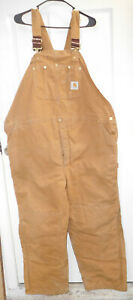 Carhartt® Washed Duck Insulated Bib Overalls-48 x 30