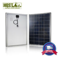 HQST 100 Watt 12 Volt Poly Solar Panel 100W 12V Off Grid PV Power RV Home