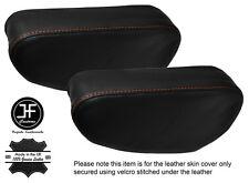 Cuciture color arancio 2x Sedile Bracciolo in pelle copre Si Adatta Mitsubishi Pajero Shogun 90-01