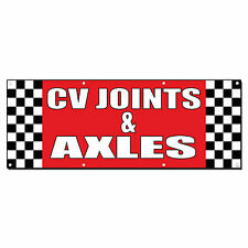 Cv Joints & Axles Auto Body Shop Car Repair Banner Sign 2' x 4' /w 4 Grommets