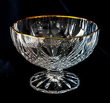 "Crystal Pedestal Bowl by Cristallerie D'Arques. 8 1/2"" Longchamp Footed Bowl."