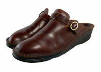 NAOT CLOGS MULES Brown Leather Casual Work Buckle Womens Shose Size Eu 39 Us 8.5