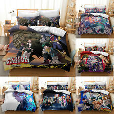 New My Hero Academia 3PCS Bedding Set Anime Quilt Cover Duvet Cover Pillowcases