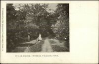 Central Village CT Sugar Brook c1905 Postcard