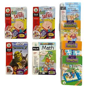 Leapfrog Leap Pad Learning Game Cartridges and Books Lot of 6