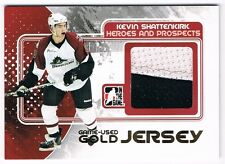 2010-11 ITG HEROES AND PROSPECTS GAME USED JERSEY GOLD KEVIN SHATTENKIRK /10 !!