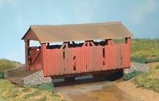 Bachmann Plasticville 45317 Covered Bridge Plastic Model   O Gauge New T48 Post