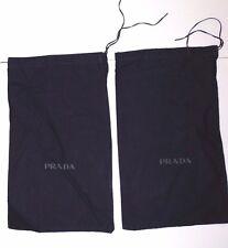 PRADA set of (2) Felt Cotton Shoe Bags Dark Navy Blue