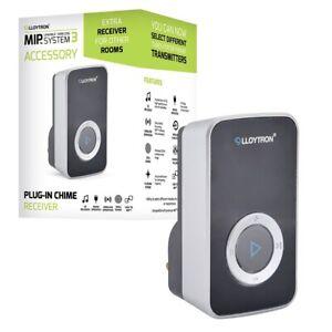 Lloytron MIP3 Wireless Door Bell Chime Plug In Receiver Musical 32 Tunes Black