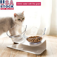 Non-slip Pet Cat Double Bowls With Raised Stand Food Water Bowl Cat Dog Feeder