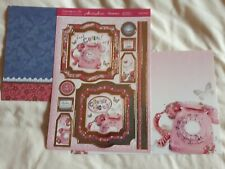 Hunkdory -  Chatty Chick! - Die Cut Topper Sheet & 2 Backing Cards