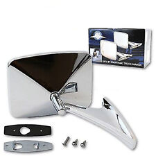 73-91 GMC Truck Chrome RH Outside Rectangle Square Convex Rear View Door Mirror