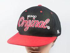 Chicago Original Fit Snapback KR3W Hat Cap Black and Red Adjustable