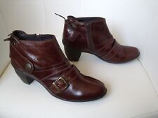 ♥ LOW BOOTS BOTTINES PATAUGAS CUIR BRUN FONCE 41  ♥