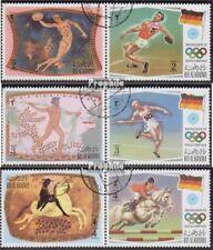 Ras al Chaima 800A-805A Paare (kompl.Ausg.) gestempelt 1972 Sport der Antike und