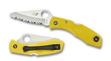 Spyderco Salt 1 Marine Yellow Serrated Edge Knife - C88SYL