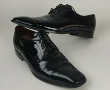 Hugo Boss Mens Shoes Dress Vero Cuoio Patent Leather Lace Up Oxford US Size 9.5
