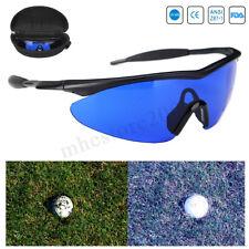 Golf Ball Finder Locating Glasses Sport Blue Lens Black Frame Sunglasses w/