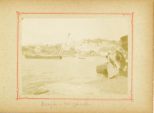 Algérie, Béjaïa (بجاية), Bougie, Vue générale  Vintage citrate print.  Tirage