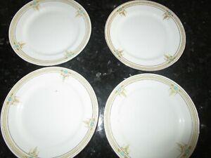 Vintage China Paragon Tea Plates x 5 Cream with Gold Design
