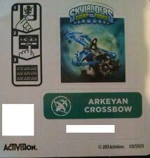 Arkyean Crossbow Skylanders Swap Force Sticker/Code Only!