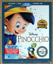 PINOCCHIO ~ DISNEY ~ SIGNATURE COLLECTION ~ BLU-RAY + DVD + DIGITAL HD ~ NEW