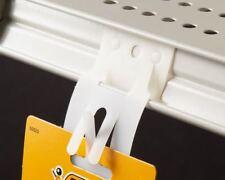 100Pcs Hanging Merchandising Strip Display Plastic Clip Adh Strips Best Deal
