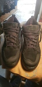 5.11 Norris Black Leather Puncture Resistant Sneakers, Size 12   #12411
