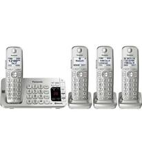 PANASONIC Link2Cell Bluetooth Cordless Phone System 4 Handsets Silver KX-TGE474S