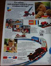 Publicité de presse Lego 1969  / french clipping