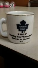 NHL STANLEY CUP CRAZY MINI MUG TORONTO MAPLE LEAFS 1967 CHAMPS W/OPPONENT &SCORE
