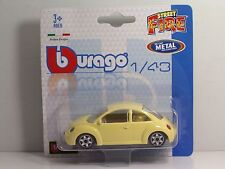 "Bburago 30001 VW New Beetle ""Yellow"" METAL Scala 1:43"
