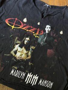 Vintage 2003 Ozzfest Ozzy Osbourne Marilyn Manson Sleeveless Tour T-Shirt