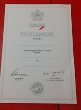 "CONCORDE Flight Certificate "" Flew on Concorde "" SIGNED Blank ...10 YEARS Scarce"