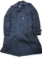 All-weather Navy Blue Men Trench Coat 40M/42R w removable liner 8405-01-175-2293