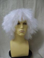 White Frizzy Mad Hatter Wig Christmas Carol Jacob Marley Ghost Ebenezer Scrooge