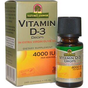 Nature's Answer Vitamin D3 Drops 4000iu 15ml