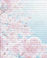 Cherry Blossom Lined Stationery Writing Paper Set,  25 Sheets & 10 Envelopes