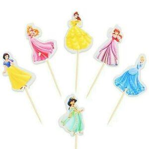 DISNEY PRINCESS Cake Picks Cupcake Toppers Party Decoration 12 24 48