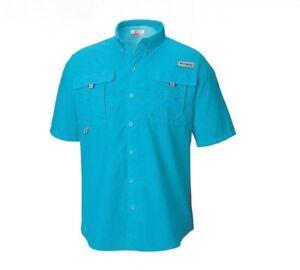 NEW COLUMBIA Men's PFG Bahama Short Sleeve Fishing Shirt UPF 30 Vented