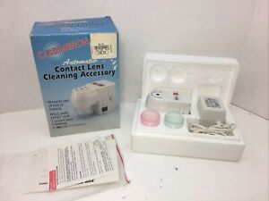 CLENSATRON 700CL Automatic Contact Lens Cleaner Cleaning Accessory *Preowned*