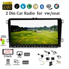 9''2 Din GPS Android Car Radio for VW/Seat +CAM BT Touch FM iOS Mirror Link Wifi