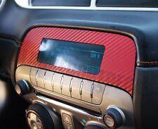 2010-2015 Camaro RED Carbon Fiber Radio Overlay Decal Sticker - Chevy Wrap