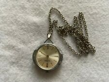Vintage Swiss Made Sutton Mechanical Wind Up Necklace Pendant Watch