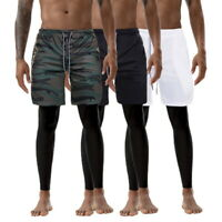 Fashion Men' in 1 Shorts Sports GYM pants Quick Drying Gym pants mit Pockets