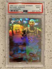 Michael Jordan PSA 9 Mint Hologram 1991 Upper Deck MVP Slab Rare