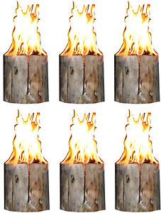 6 Stk. Schwedenfeuer Gartenfackel Finnenfackel Partyfackel H=20 cm; Ø 9-14 cm