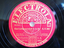 4x 78rpm LUIGI AMODIO + STRUB QUARTET - Mozart CLARINET QUINTET