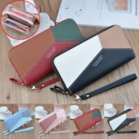 Women's Lady Leather Wallet Long Zip Purse Coin Card Phone Holder Clutch Handbag